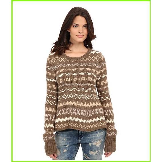 贅沢屋の Free People Through the Storm Pullover フリーピープル Sweaters WOMEN レディース Taupe Combo, ステッキ杖の歩くらぶ 1da2d2e7