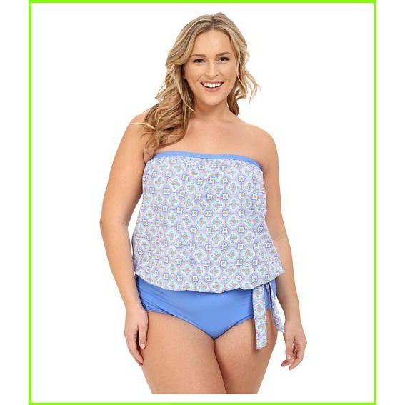 Athena Plus Size Santorini Soft Cup Bandini Athena Swimsuit Tops WOMEN レディース Multi