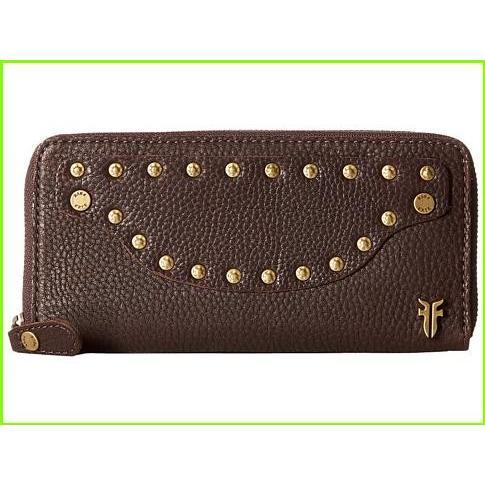 ファッション Frye Checkbook Dark Nikki Nail Head Large Brown Wallet フライ Checkbook Wallets WOMEN レディース Dark Brown Soft Tumbled Full Grain, 大野屋商店:10a803d8 --- graanic.com