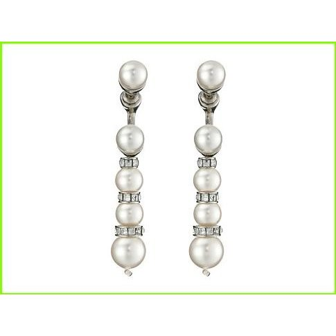 2019人気特価 Oscar de la Renta Pearl Pave Renta Backdrop レディース P la Earrings オスカーデラレンタ Drop Earrings WOMEN レディース White/Silver, ホスピマート:29e2c33b --- photoboon-com.access.secure-ssl-servers.biz