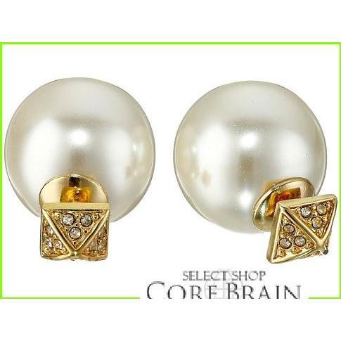 最適な材料 Rebecca Minkoff Two Toned/Crystal Part WOMEN Pave/Pearl Earrings Earrings レベッカミンコフ Stud Earrings WOMEN レディース Gold Toned/Crystal, ナラシノシ:235dd636 --- airmodconsu.dominiotemporario.com