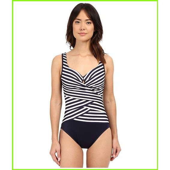 Miraclesuit New Directions Layered Escape One-Piece Miraclesuit One Piece Swimsuits WOMEN レディース Midnight Blue