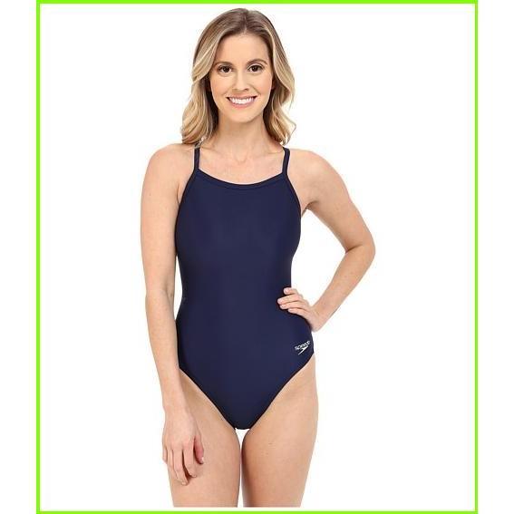 Speedo Powerflex Eco Solid Flyback One-Piece スピード One Piece Swimsuits WOMEN レディース Speedo Navy