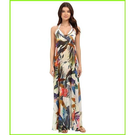 Vitamin A Swimwear Flute Long Dress Cover-Up Vitamin A Swimwear Cover Ups WOMEN レディース Maya Woven