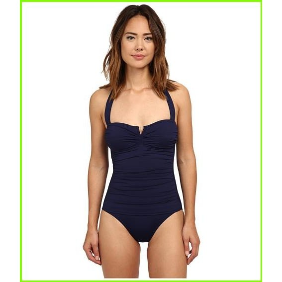 Tommy Bahama Pearl Solids V Front Halter Cup 1 Piece トミー バハマ One Piece Swimsuits WOMEN レディース Mare Navy