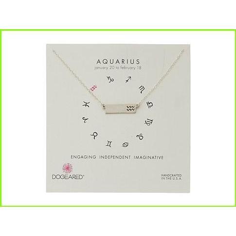 【お買い得!】 Dogeared Aquarius Zodiac Bar Necklace ドギャード Pendants WOMEN レディース Sterling Silver, NEXT FOCUS e4f0d2c3