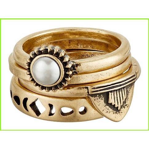 新品?正規品  Lucky Brand Lucky Layers Stack Ring ラッキーブランド Rings WOMEN レディース Gold, おのみち発 北前船の贈り物 8417c250