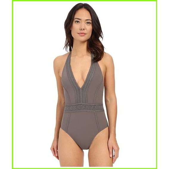 Red Carter Neo Bohemia V-Neck Halter Mio One-Piece Red Carter One Piece Swimsuits WOMEN レディース Stone
