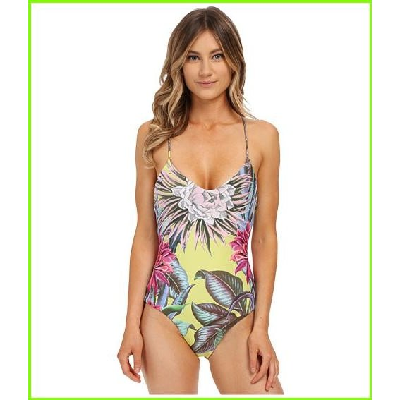 Mara Hoffman Maillot Lace-Up Back One-Piece マーラホフマン One Piece Swimsuits WOMEN レディース Cactus Floral Citrus