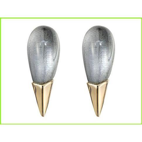 最新人気 Alexis Bittar Liquid Metal Capped Spike Post Clear Lucite Earrings アレクシス ビッター Stud Earrings WOMEN レディース Cool Grey Clear, タヌシマルマチ d168baa4