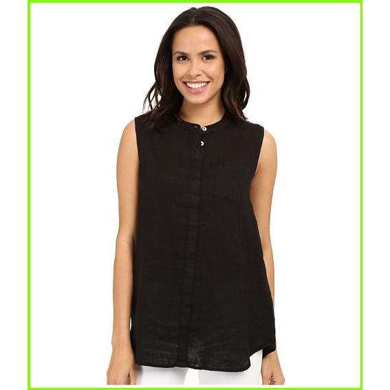 人気ブランドを Allen Allen Linen Mock Collar Shirt Allen Allen Blouses WOMEN レディース Black, RING JACKET MEISTER b7ba1d84