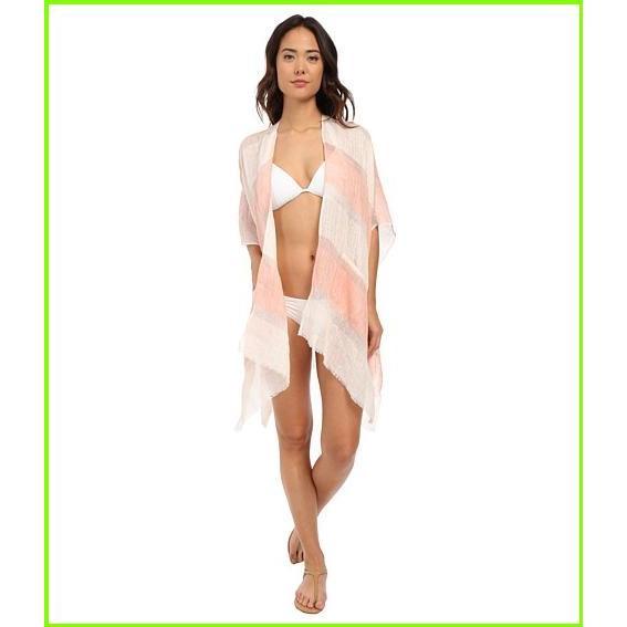 Echo Design Yarn Dye Ruana Echo Design Cover Ups WOMEN レディース Bright Coral