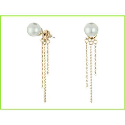 日本に Rebecca Minkoff Rebecca Pearl レディース WOMEN Fringe Back Earrings レベッカミンコフ Earcuffs WOMEN レディース Gold/Pearl, 泡盛倶楽部:48a3b0fd --- airmodconsu.dominiotemporario.com