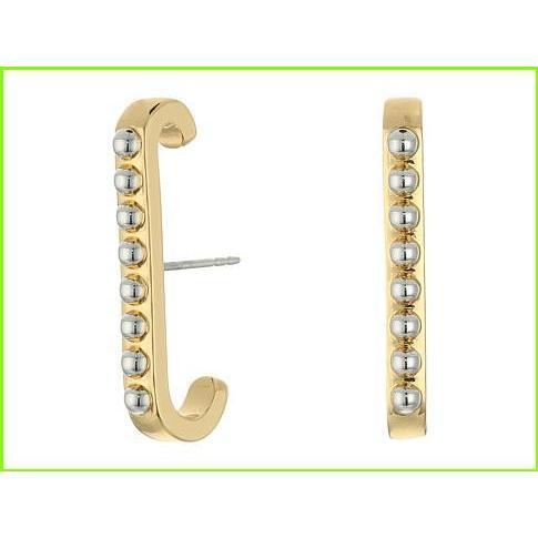 【レビューで送料無料】 Rebecca Minkoff Studded Vertical Gold/Rhodium Huggie Earrings レベッカミンコフ Studded Earrings Drop Earrings WOMEN レディース Gold/Rhodium, オウラマチ:82878a83 --- airmodconsu.dominiotemporario.com
