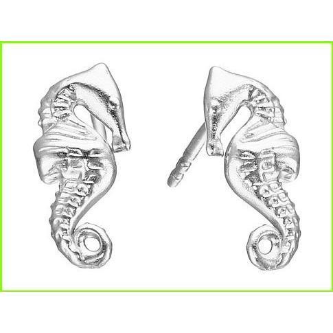 流行に  Alex and Ani Silver Alex Post Earrings Seahorse Alex and Ani Ani Stud Earrings WOMEN レディース Silver, 健康セレクション:087701ac --- airmodconsu.dominiotemporario.com