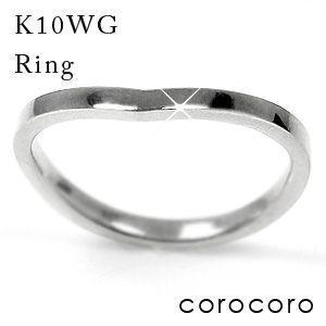 【限定製作】 シンプルライン指輪ホワイトゴールドリング, Progre bcda7891