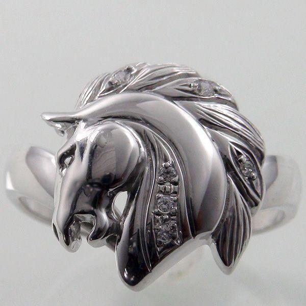 超大特価 ホースモチーフダイヤモンドホワイトゴールドリング 馬のダイヤモンドリング指輪, MESS AROUND:1db240fb --- airmodconsu.dominiotemporario.com