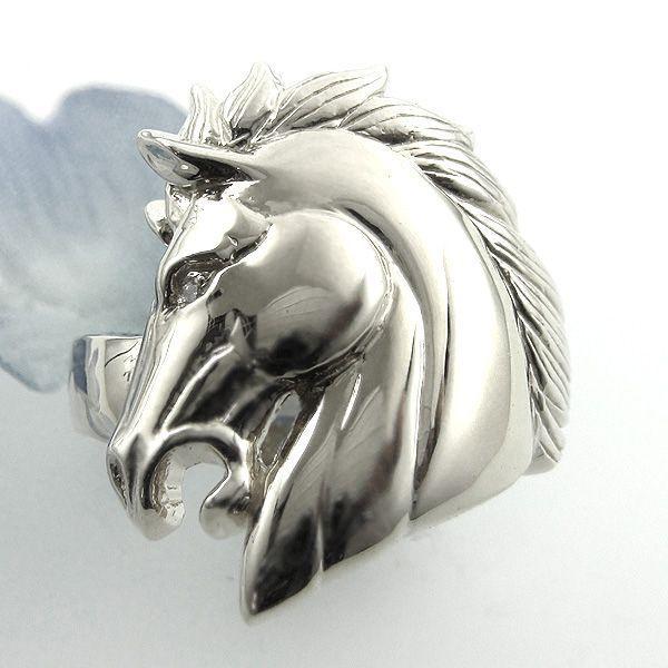出産祝い ホースモチーフダイヤモンドプラチナリング 馬のダイヤモンドリング指輪, アカイケマチ c3b7b7bc