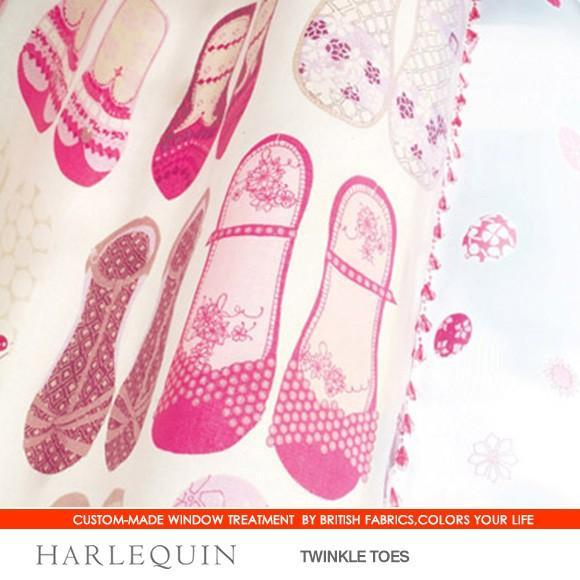 英国生地 HARLEQUIN ハーレクイン オーダーカーテン フラットカーテン仕様 幅235〜371cmまで×丈141〜200cmまで