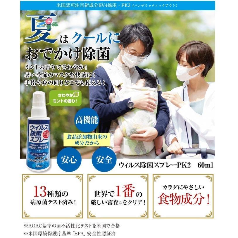 ミリオン ウィルス除菌スプレー PK2 60ml 3個セット|cosme-village|02