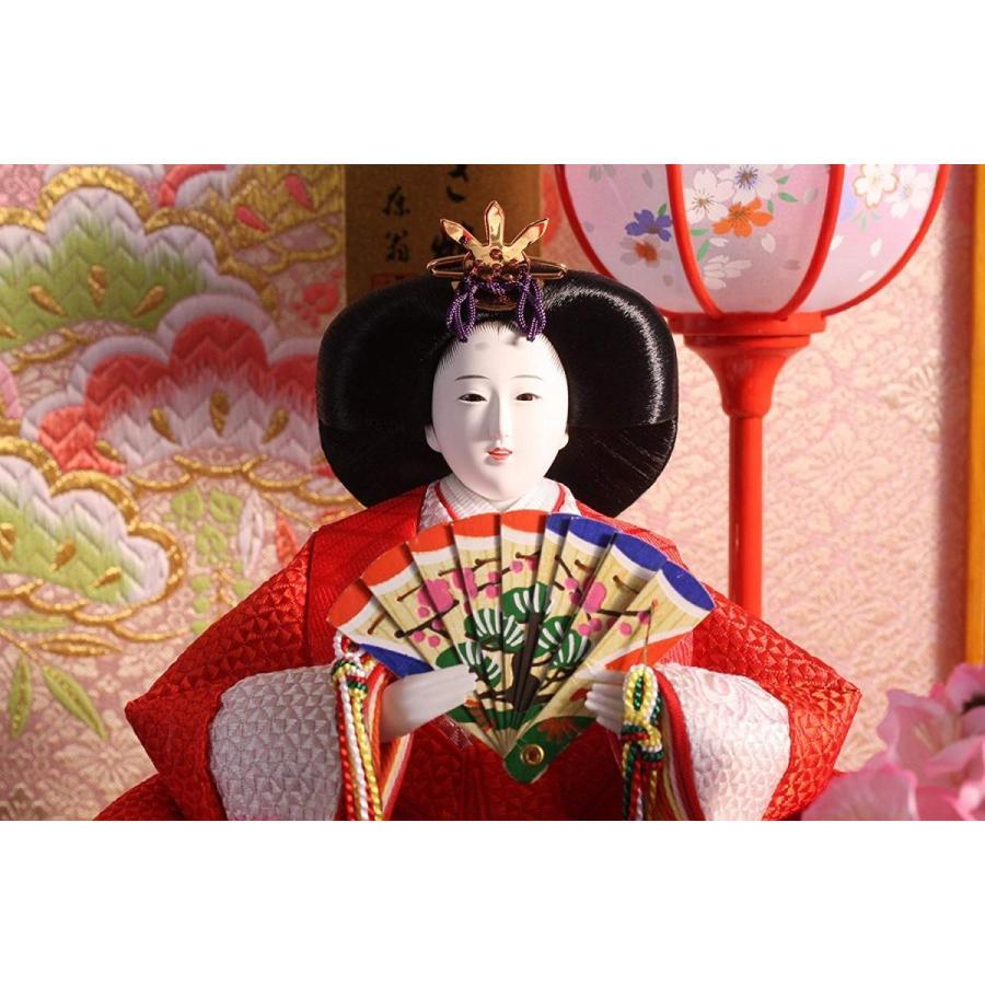 雛人形 ケース飾り ひな人形 六角家具調親王ケース飾り W55×D36×H38cm2228