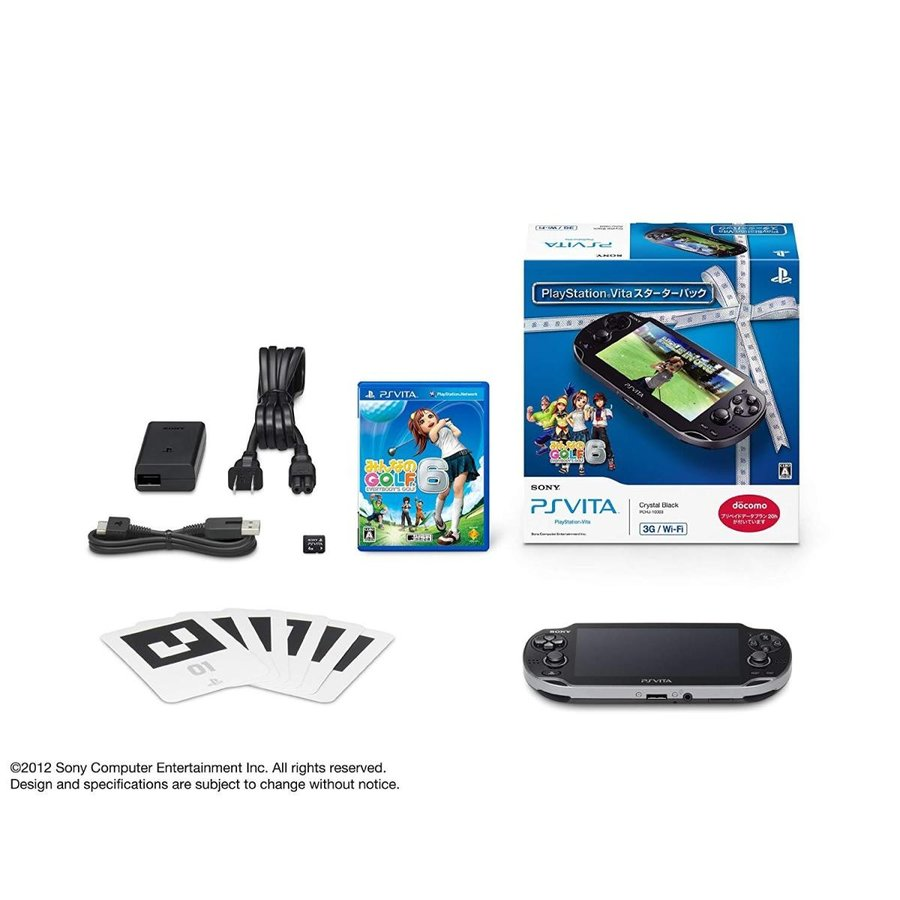 PlayStation Vita 3G/Wi-Fiモデル クリスタル・ブラック スターターパック (PCHJ-10003)メーカー生産終了