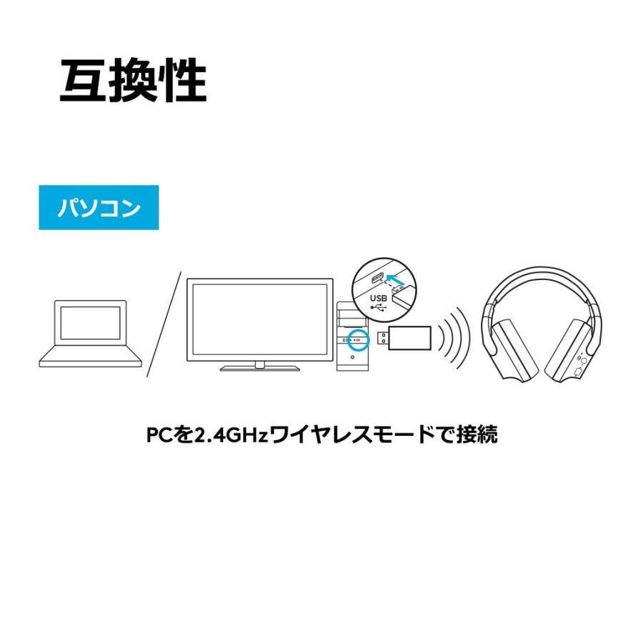 ワイヤレスゲーミングヘッドセット Logicool ロジクール G533 ブラック Dolby DTS 7.1ch 臨場感 ノイズキャンセリ