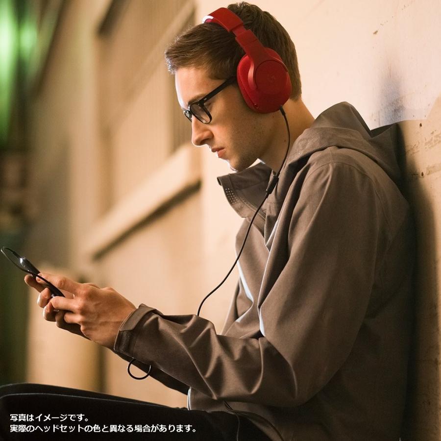 ゲーミングヘッドセット Logicool ロジクール G433RD レッド Dolby DTS 7.1ch 臨場感 軽量設計 スポーツメッシ