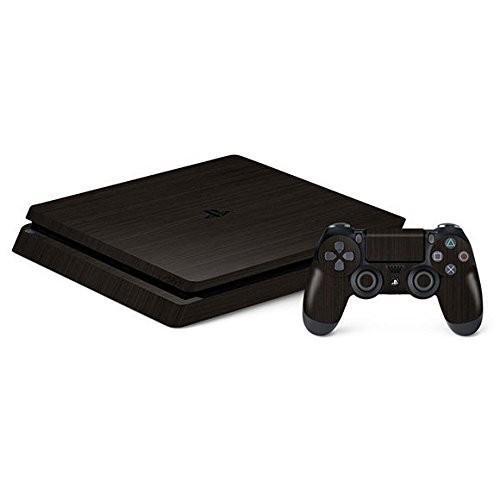 Sony PS4 Slim CUH-2000 メタル調プレミアムスキンシールブラッシュドダークチタン