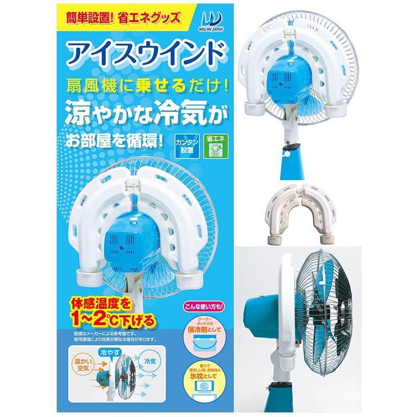 アイスウィンド (1コ入)扇風機 冷気 簡単設置 保冷剤 ウィキャン|cospa|02