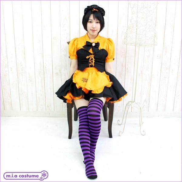 1201F▲【送料無料・即納】 ボーダー ニーハイ 1cm 色:紫×黒 サイズ:フリー|cosplaymode|04
