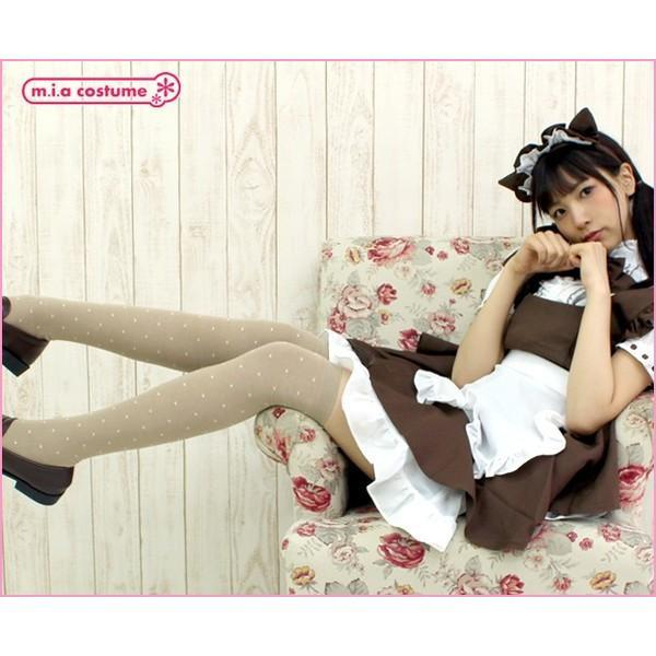 1257B▲【送料無料・即納】 ドット柄オーバーニーソックス 色:ベージュ サイズ:23~25cm|cosplaymode|05