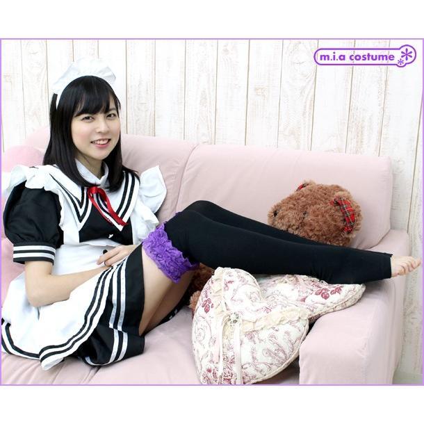 1261D▲【送料無料・即納】裾レース付きトゥレスオーバーニー 色:ブラック×パープル サイズ:23-25cm|cosplaymode|05