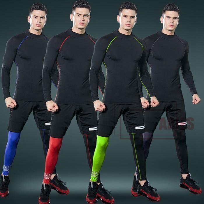 トレーニングウェア スポーツウェア メンズ 秋冬 フィットネス 3点セット 動きやすい ランニング トレーニング 吸汗速乾 保温性 高襟 保温対策GDJ03-AL46