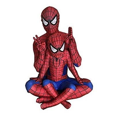 スパイダーマン コスプレ 子供 赤ー青色 全身タイツ 弾力と伸縮性あり コスプレ衣装