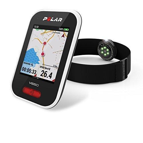 POLAR(ポラール) 日本正規品/日本語対応GPSサイクルコンピュータ Polar V650 OH1セットモデル 90069012 ホワイ