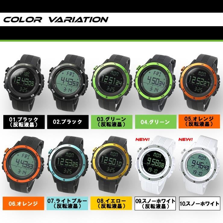 腕時計 メンズ デジタル 時計 温度計 コンパス 気圧計 高度計 アウトドア キャンプ 登山用 courage 02