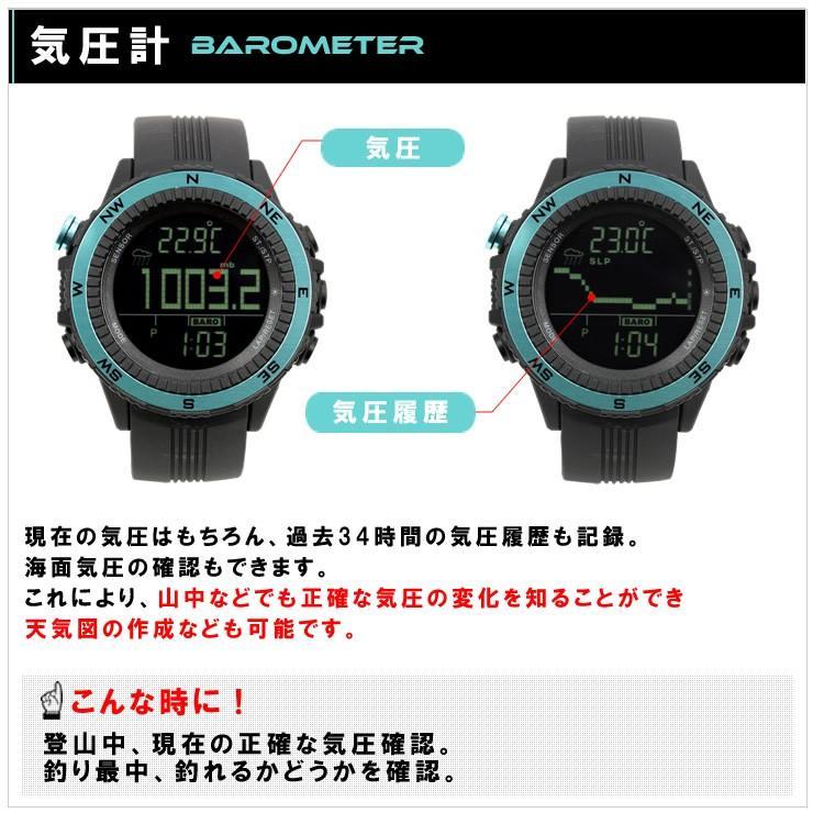 腕時計 メンズ デジタル 時計 温度計 コンパス 気圧計 高度計 アウトドア キャンプ 登山用 courage 05