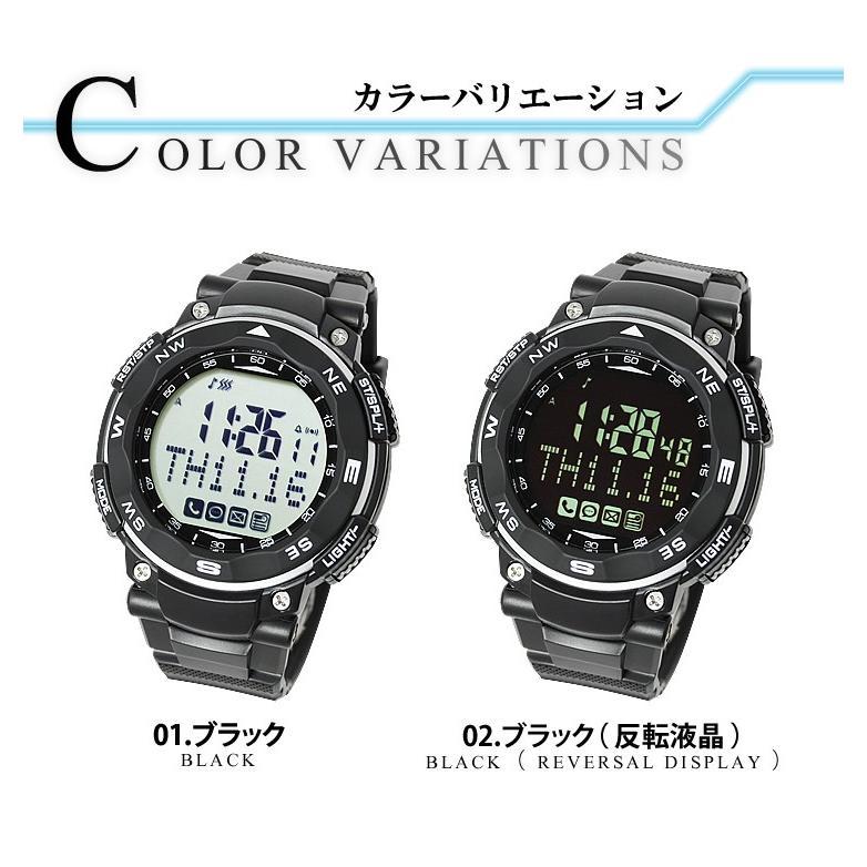 スマートウォッチ 腕時計 メンズ レディース 時計 デジタル時計 歩数計 睡眠|courage|02