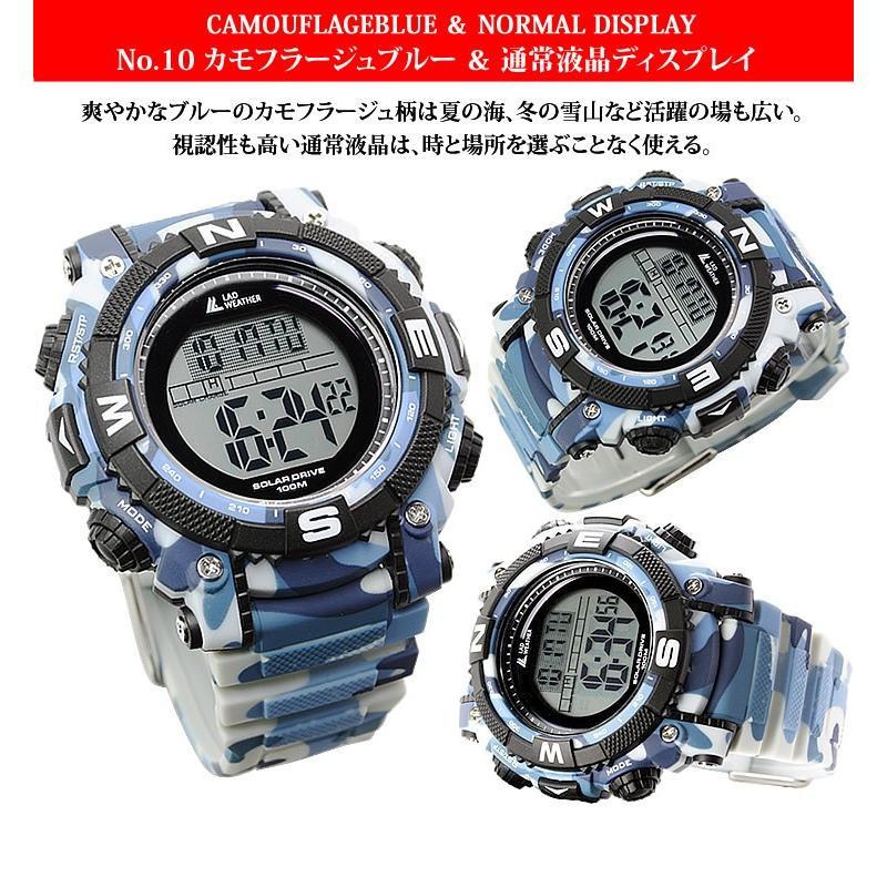 腕時計 メンズ デジタル 時計 ソーラー 100m防水 ミリタリーウォッチ|courage|13