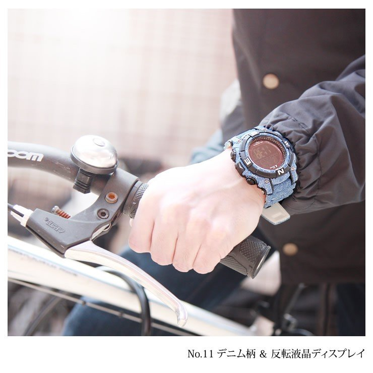 腕時計 メンズ デジタル 時計 ソーラー 100m防水 ミリタリーウォッチ|courage|19