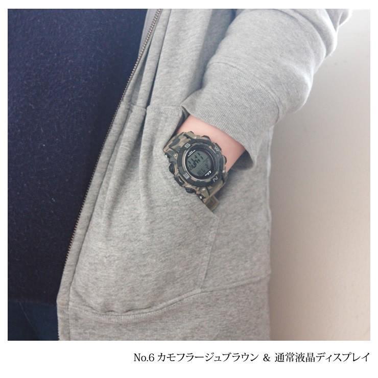 腕時計 メンズ デジタル 時計 ソーラー 100m防水 ミリタリーウォッチ|courage|20