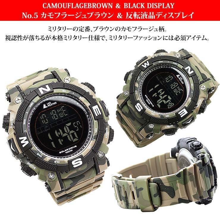 腕時計 メンズ デジタル 時計 ソーラー 100m防水 ミリタリーウォッチ|courage|07