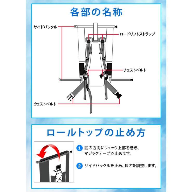 防水バッグ 防水 リュック メンズ 完全防水 大容量 40L リュックサック 防災リュック courage 16