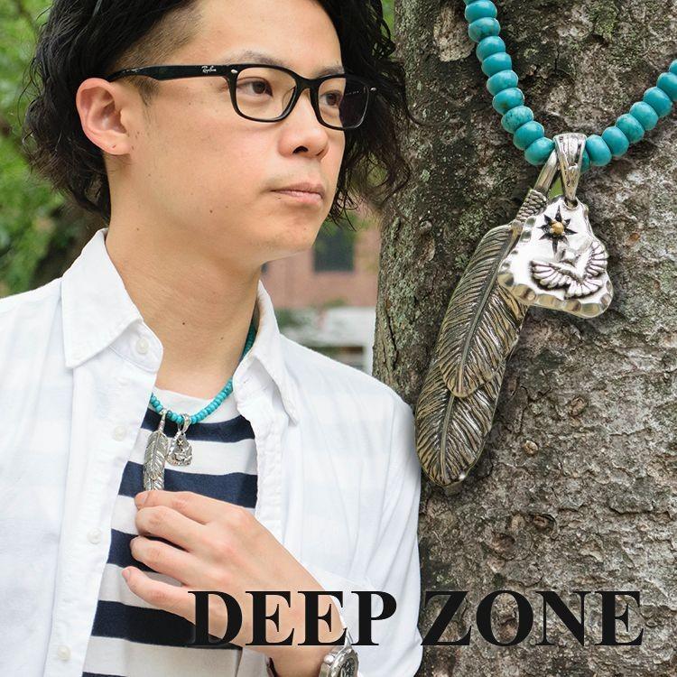 ネックレス ペンダント フェザー&トライアングル Deep Zone ハウライトターコイズ 国内製作 ピューター プレゼント ギフト cowbell