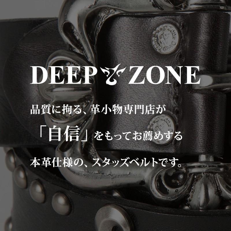 選べる16パターン ベルト メンズ 本革 リリィスタッズ オイルレザー 合金 牛革 本革 Deep Zone プレゼント ギフト|cowbell|02