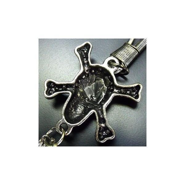 ウォレットチェーン レザーウォレット メタルスカル 二連 ウォレットチェーン [ALWC-024] プレゼント ギフト|cowbell|04