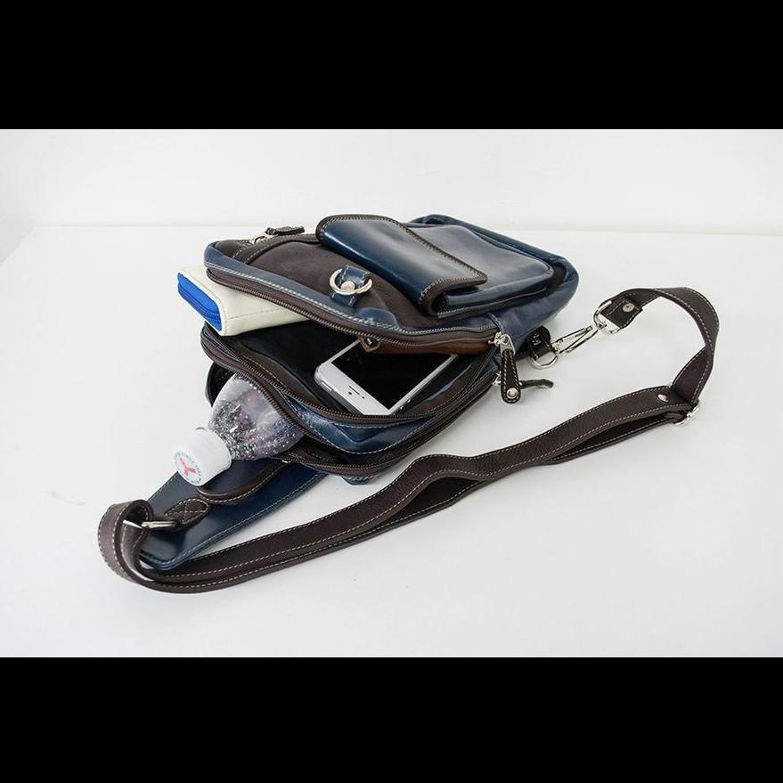 ボディバック メンズ 本革 レザー イタリアンレザー Deep Zone  プレゼント ギフト|cowbell|10