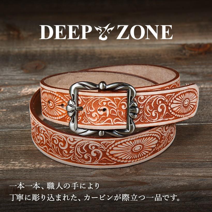 選べる12パターン ベルト メンズ 本革 カービング 合金 牛革 本革 男性 カジュアル DEEP ZONE プレゼント ギフト cowbell 02