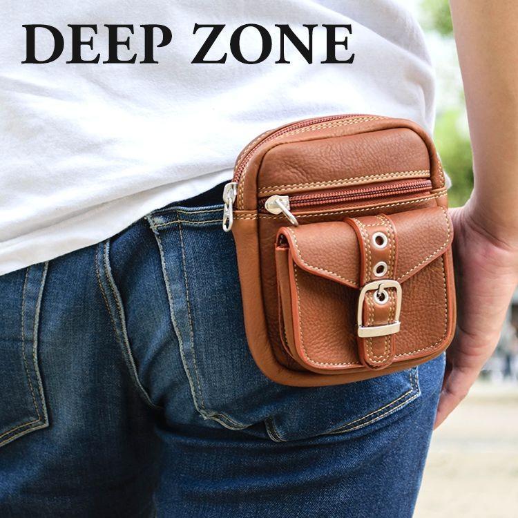 ヒップバッグ ウエストバッグ シザーバッグ メディスンバッグ ベルトポーチ Sサイズ Deep Zoneウエストポーチ メンズ 本革 レザー プレゼント ギフト|cowbell